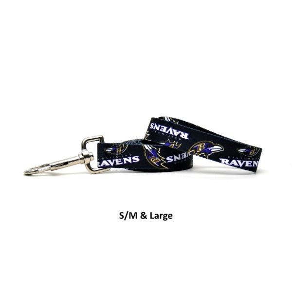 Baltimore Ravens Nylon Leash - staygoldendoodle.com