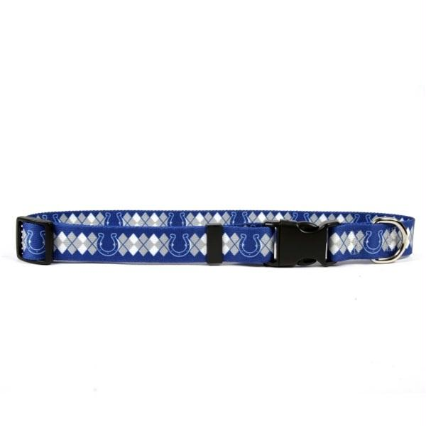 Indianapolis Colts Argyle Nylon Collar - staygoldendoodle.com