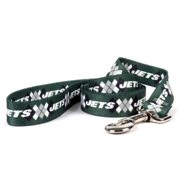 New York Jets Argyle Nylon Leash - staygoldendoodle.com