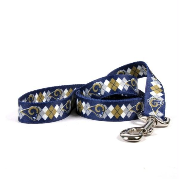 Los Angeles Rams Argyle Nylon Leash - staygoldendoodle.com
