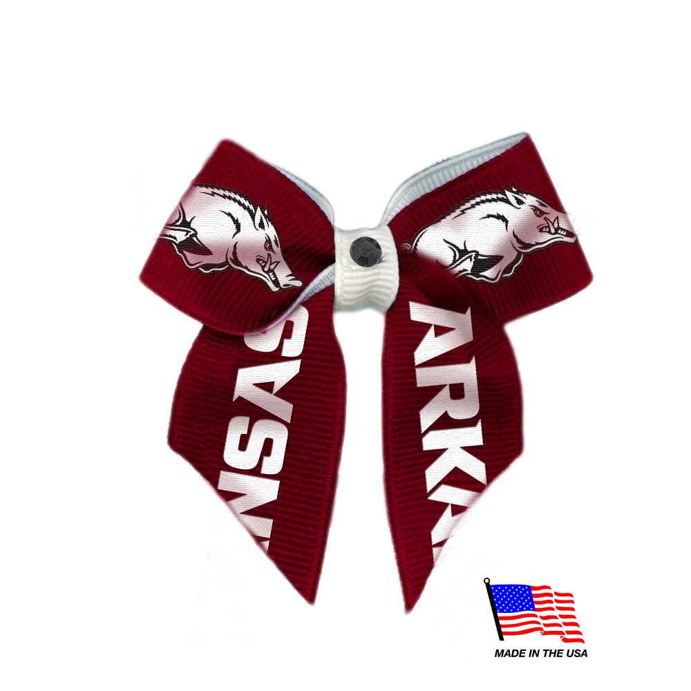 Arkansas Razorbacks Pet Hair Bow - staygoldendoodle.com
