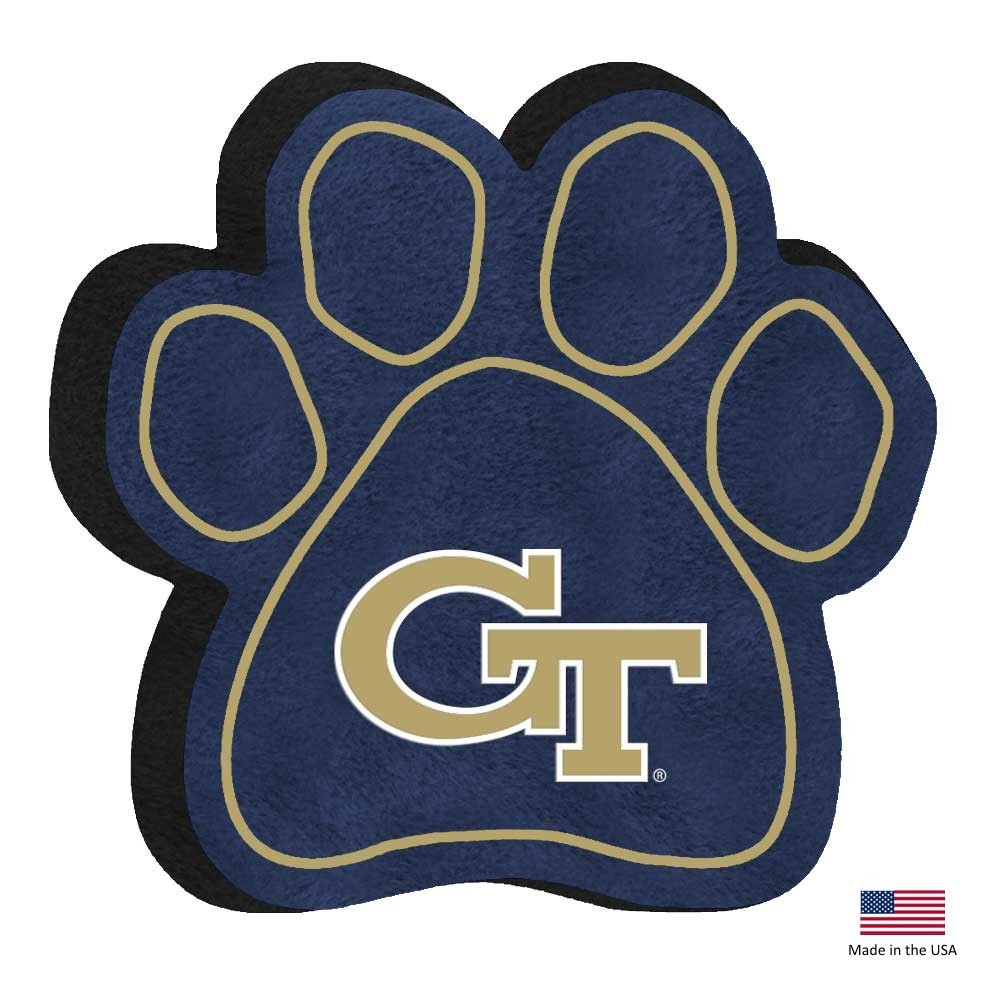 Georgia Tech Paw Squeak Toy - staygoldendoodle.com