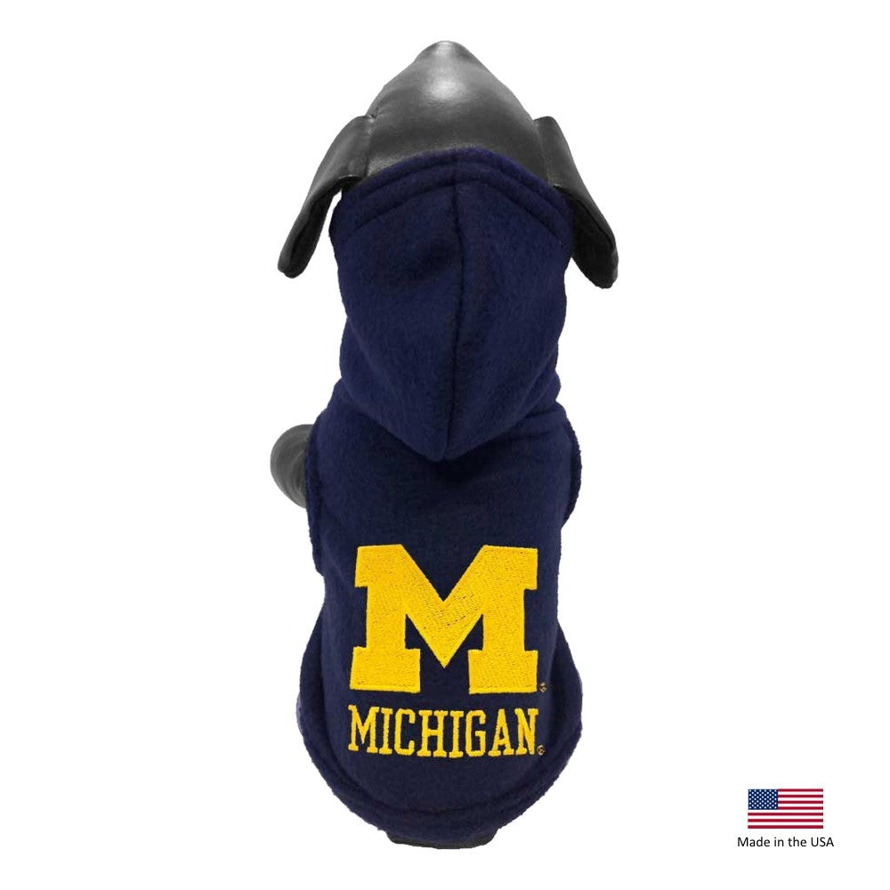 Michigan Wolverines Polar Fleece Pet Hoodie - Large - staygoldendoodle.com