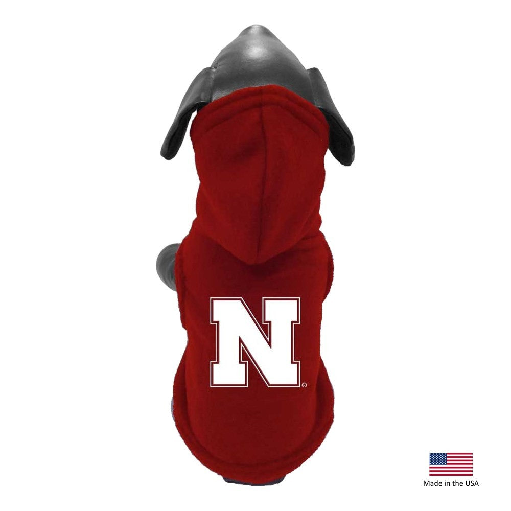 Nebraska Huskers Polar Fleece Pet Hoodie - XXS - staygoldendoodle.com