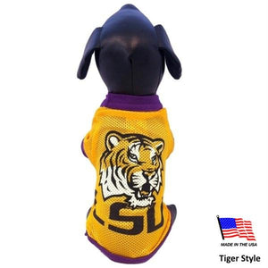 LSU Tigers Athletic Mesh Pet Jersey - staygoldendoodle.com