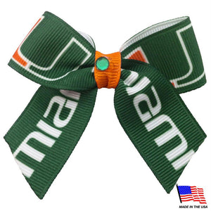 Miami Hurricanes Pet Hair Bow - staygoldendoodle.com