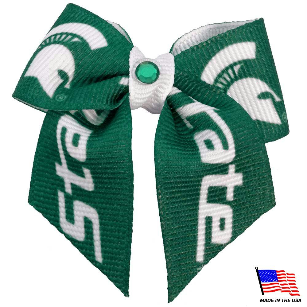 Michigan State Spartans Pet Hair Bow - staygoldendoodle.com