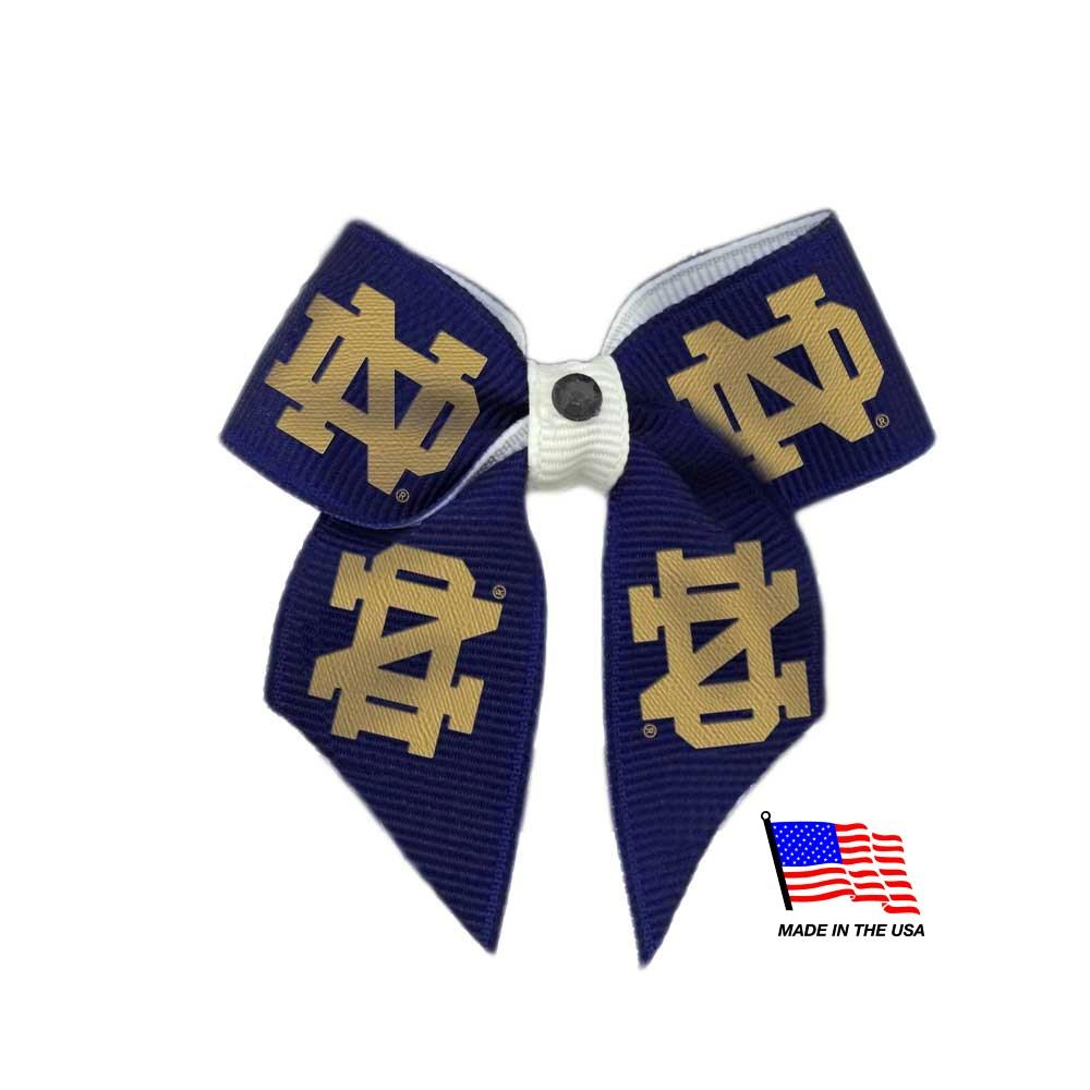 Notre Dame Fighting Irish Pet Hair Bow - Stay Golden Doodle