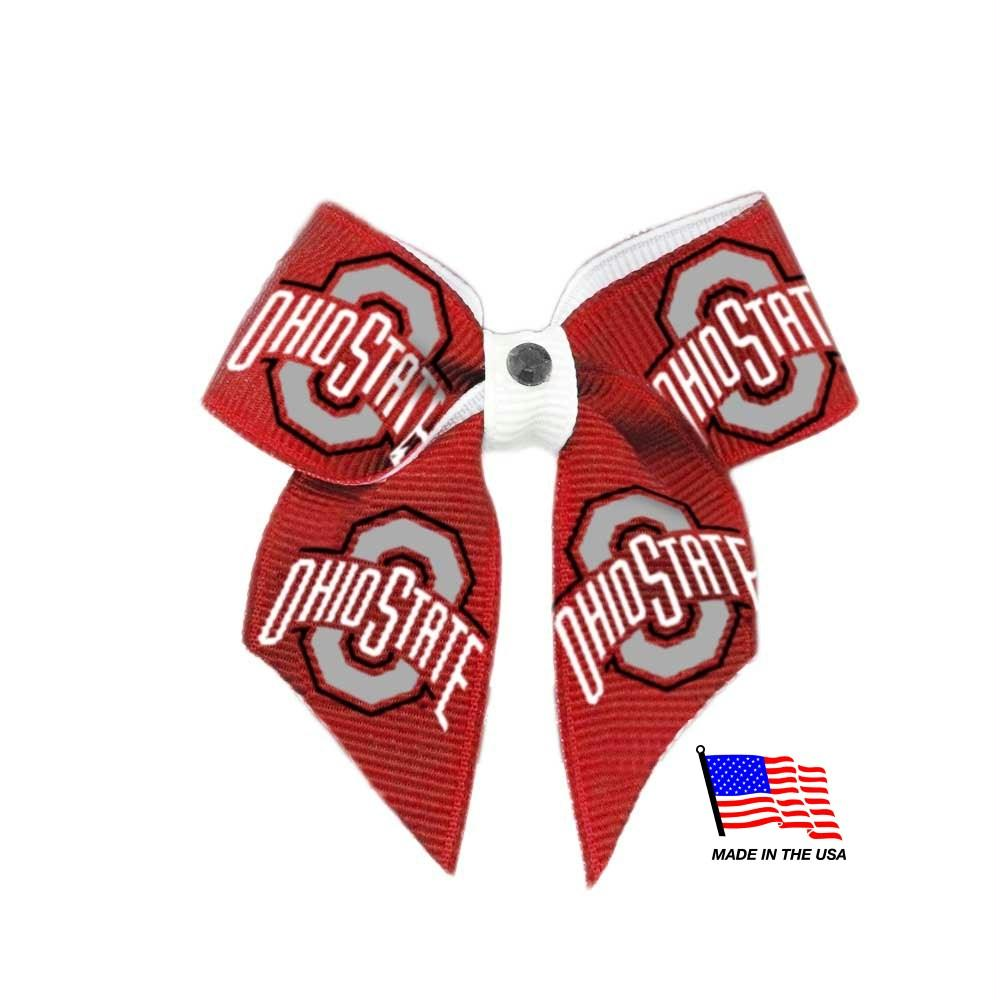 Ohio State Buckeyes Pet Hair Bow - staygoldendoodle.com