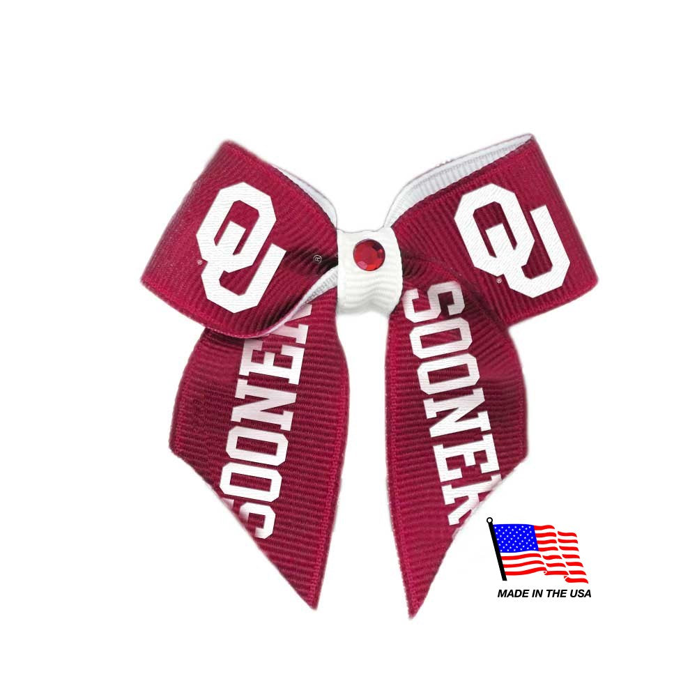 Oklahoma Sooners Pet Hair Bow - staygoldendoodle.com