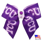 TCU Horned Frogs Pet Hair Bow - staygoldendoodle.com