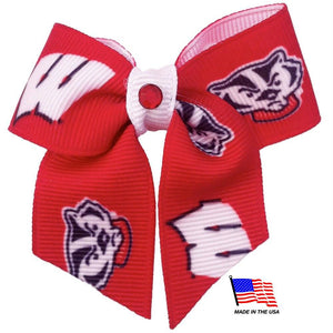 Wisconsin Badgers Pet Hair Bow - staygoldendoodle.com