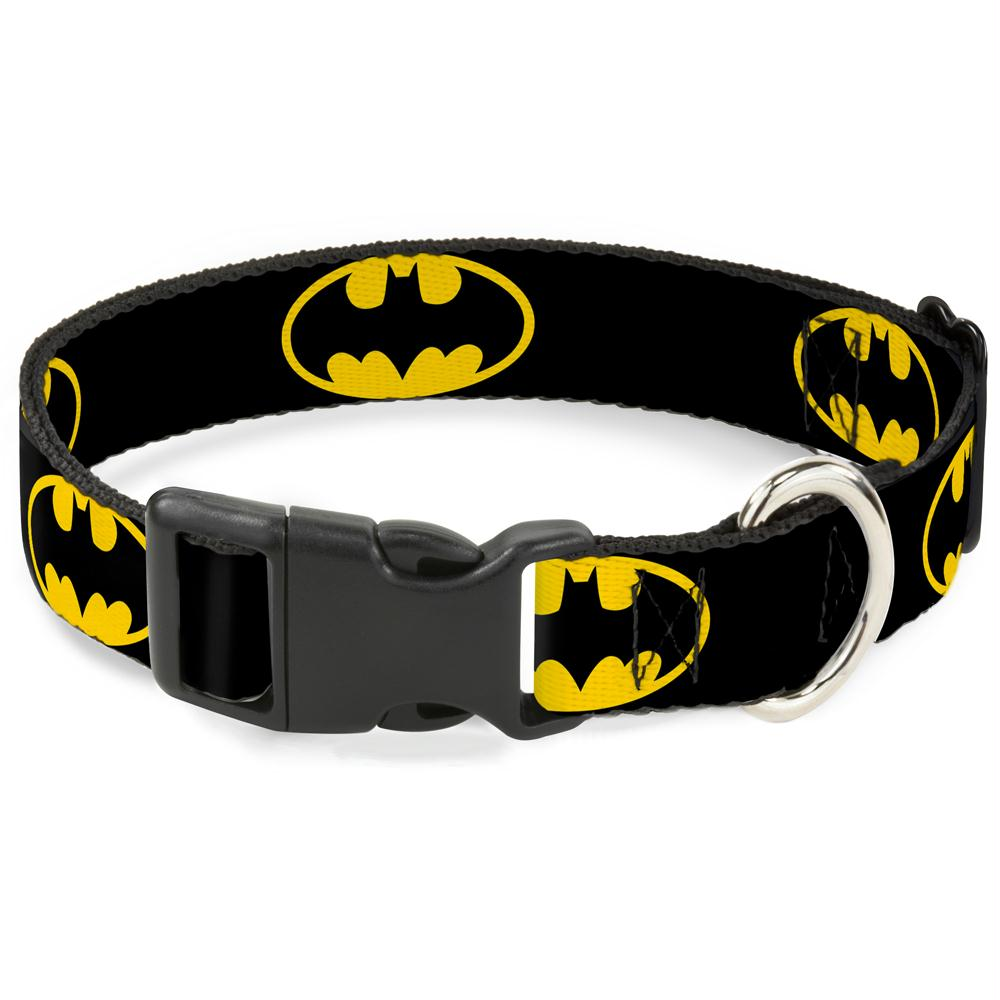 Buckle-Down Batman Shield Yellow Pet Collar - staygoldendoodle.com