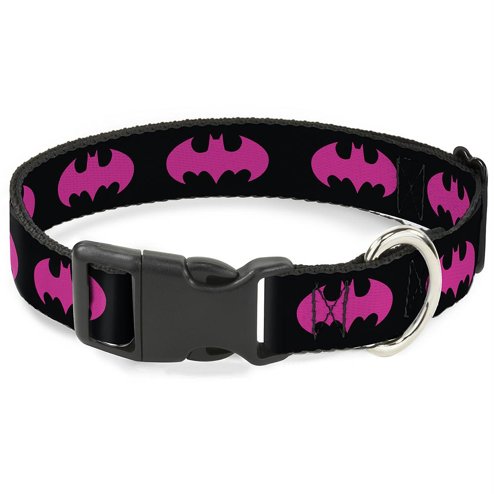 Buckle-Down Batman Signal Fuchsia Pet Collar - staygoldendoodle.com