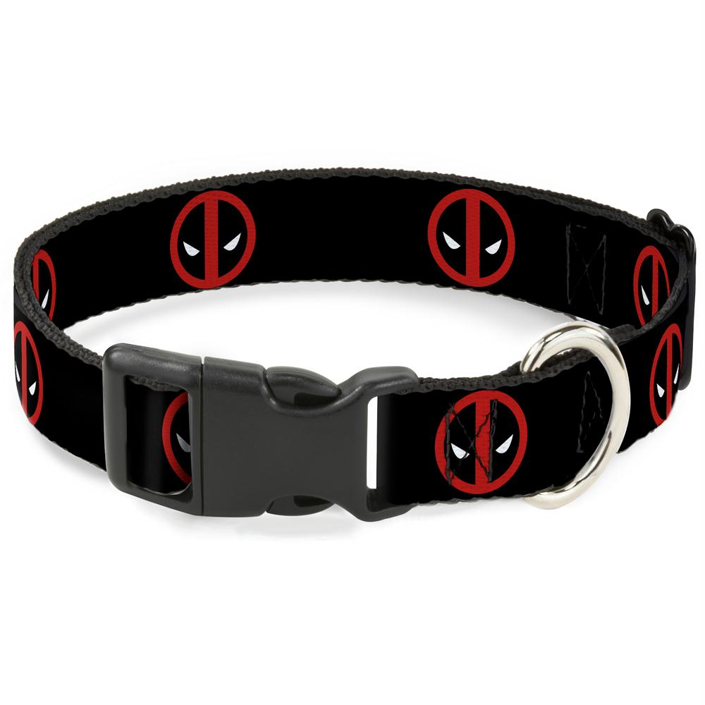 Buckle-Down Deadpool Logo Pet Collar - staygoldendoodle.com