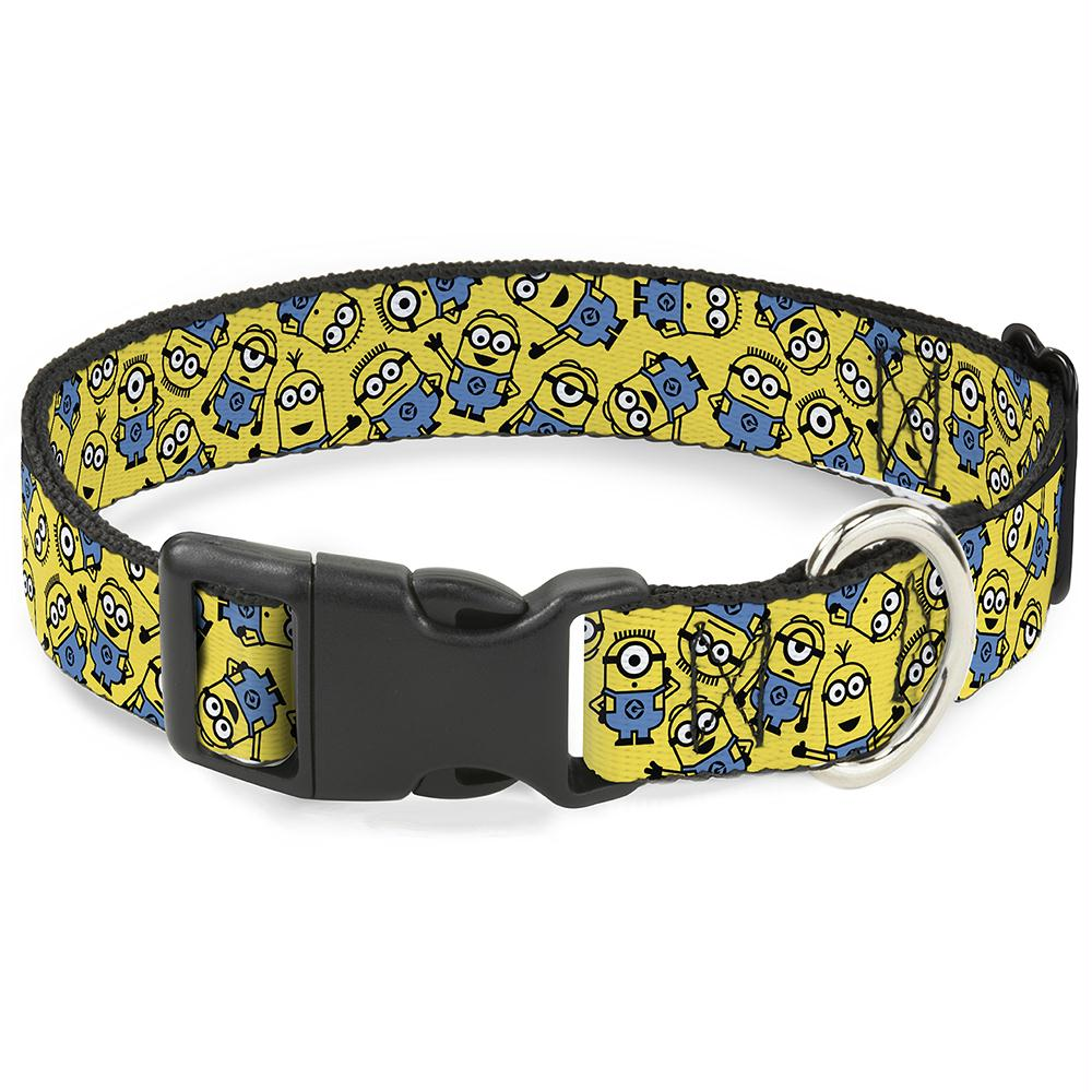Buckle-Down Minions Scattered Yellow Pet Collar - staygoldendoodle.com