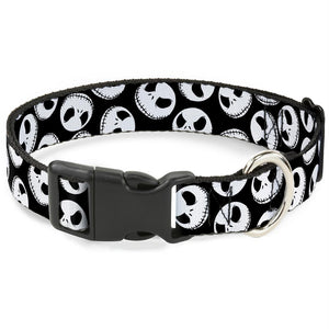 Buckle-Down Nightmare Before Christmas Jack Expressions Pet Collar - staygoldendoodle.com