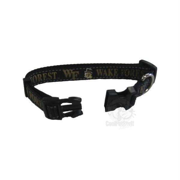 Wake Forest Demon Deacons Pet Reflective Nylon Collar - staygoldendoodle.com