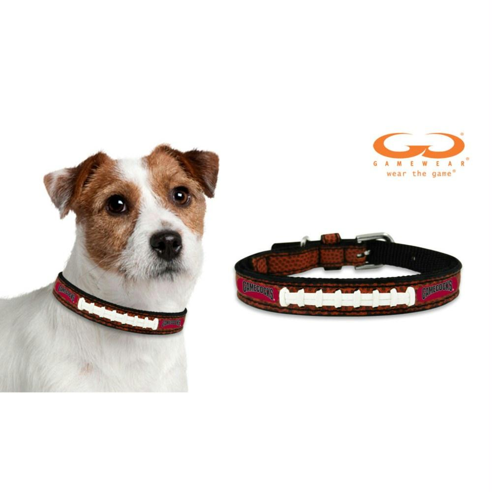 South Carolina Gamecocks Classic Leather Football Collar - staygoldendoodle.com