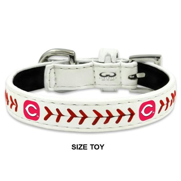 Cincinnati Reds Classic Leather Baseball Collar - staygoldendoodle.com