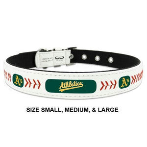 Oakland A's Classic Leather Baseball Collar - staygoldendoodle.com