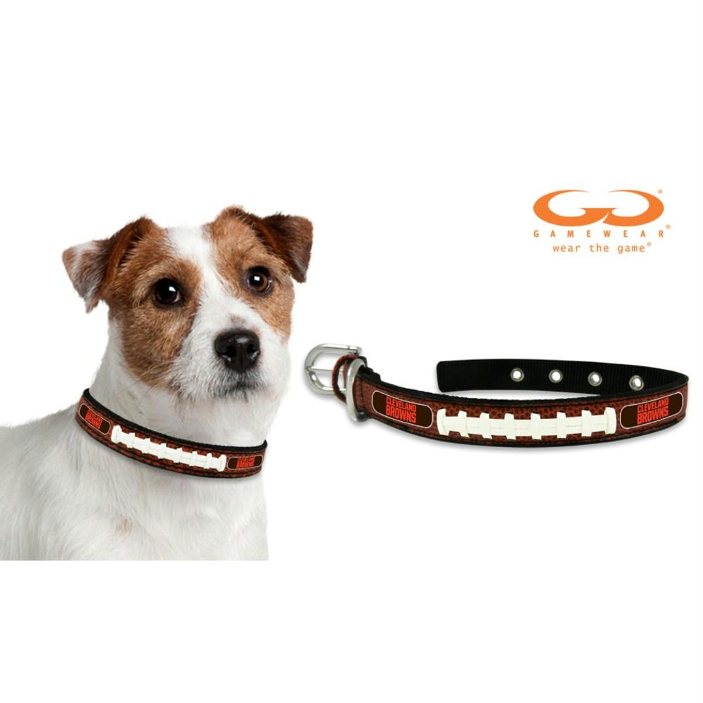 Cleveland Browns Classic Leather Football Collar - staygoldendoodle.com