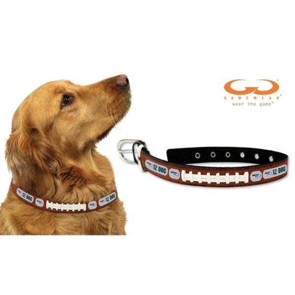 Seattle Seahawks 12th Dog Classic Leather Football Collar - staygoldendoodle.com