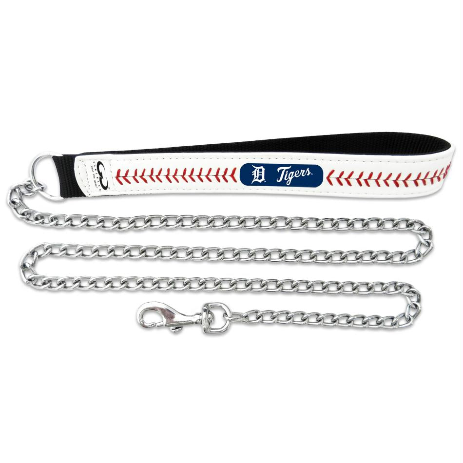 Detroit Tigers Leather Baseball Seam Leash - staygoldendoodle.com