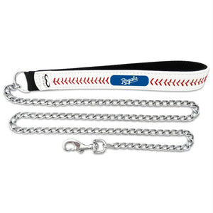 Kansas City Royals Leather Baseball Seam Leash - staygoldendoodle.com
