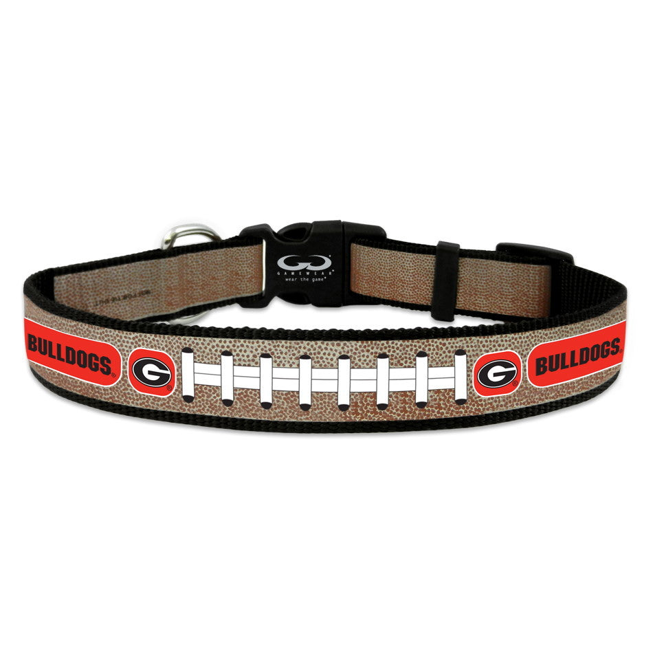 Georgia Bulldogs Reflective Football Pet Collar - Toy - staygoldendoodle.com