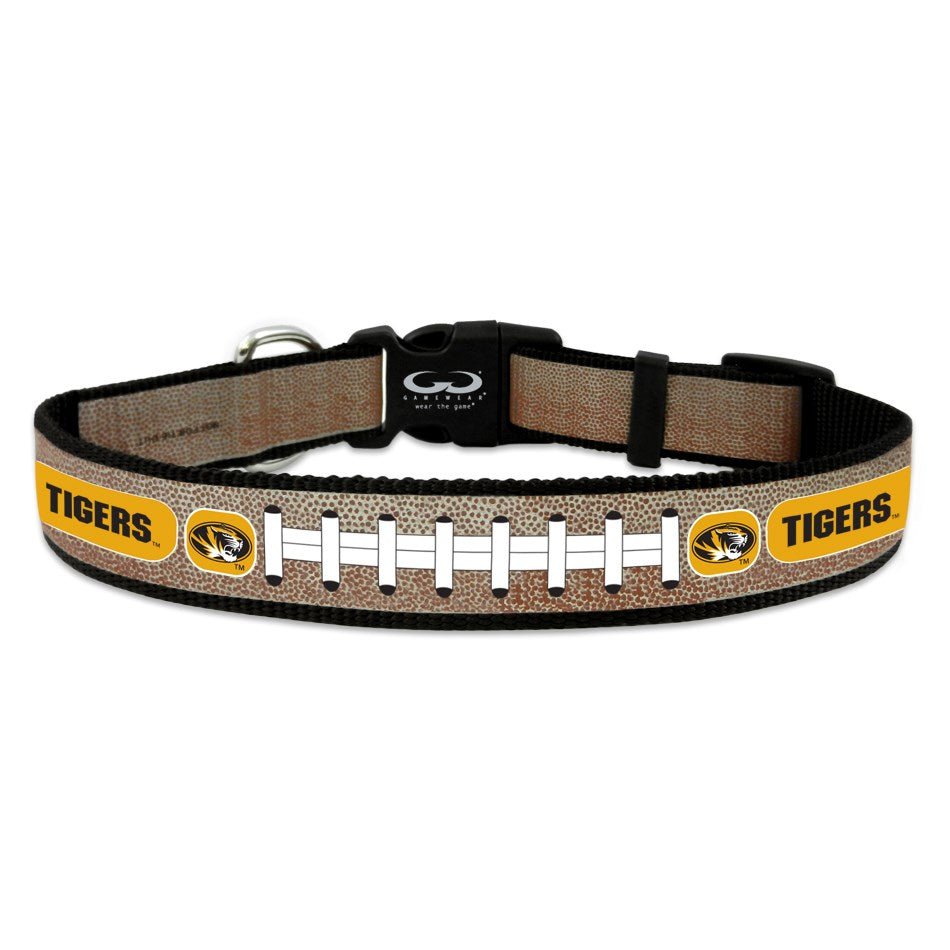 Missouri Tigers Reflective Football Pet Collar - staygoldendoodle.com