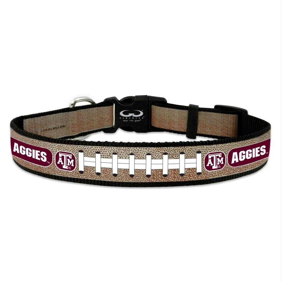 Texas A&M Aggies Reflective Football Pet Collar - staygoldendoodle.com