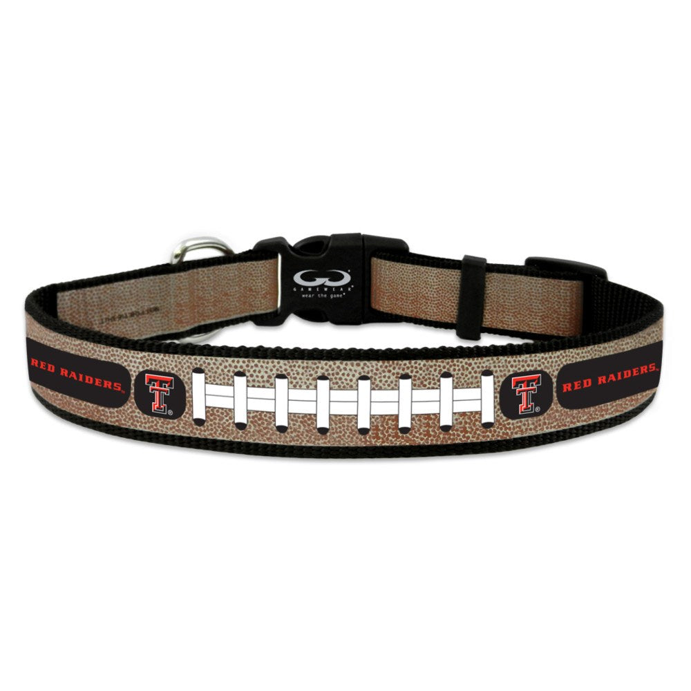 Texas Tech Red Raiders Reflective Football Pet Collar - staygoldendoodle.com