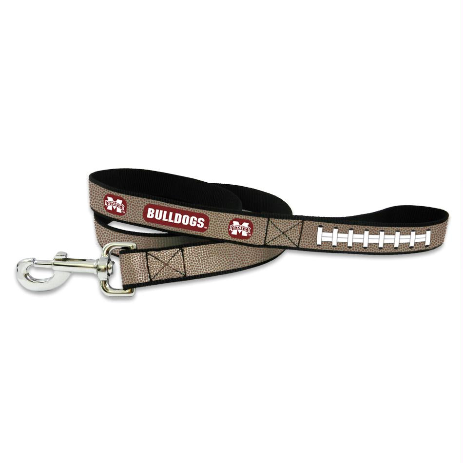 Mississippi State Reflective Football Pet Leash - staygoldendoodle.com