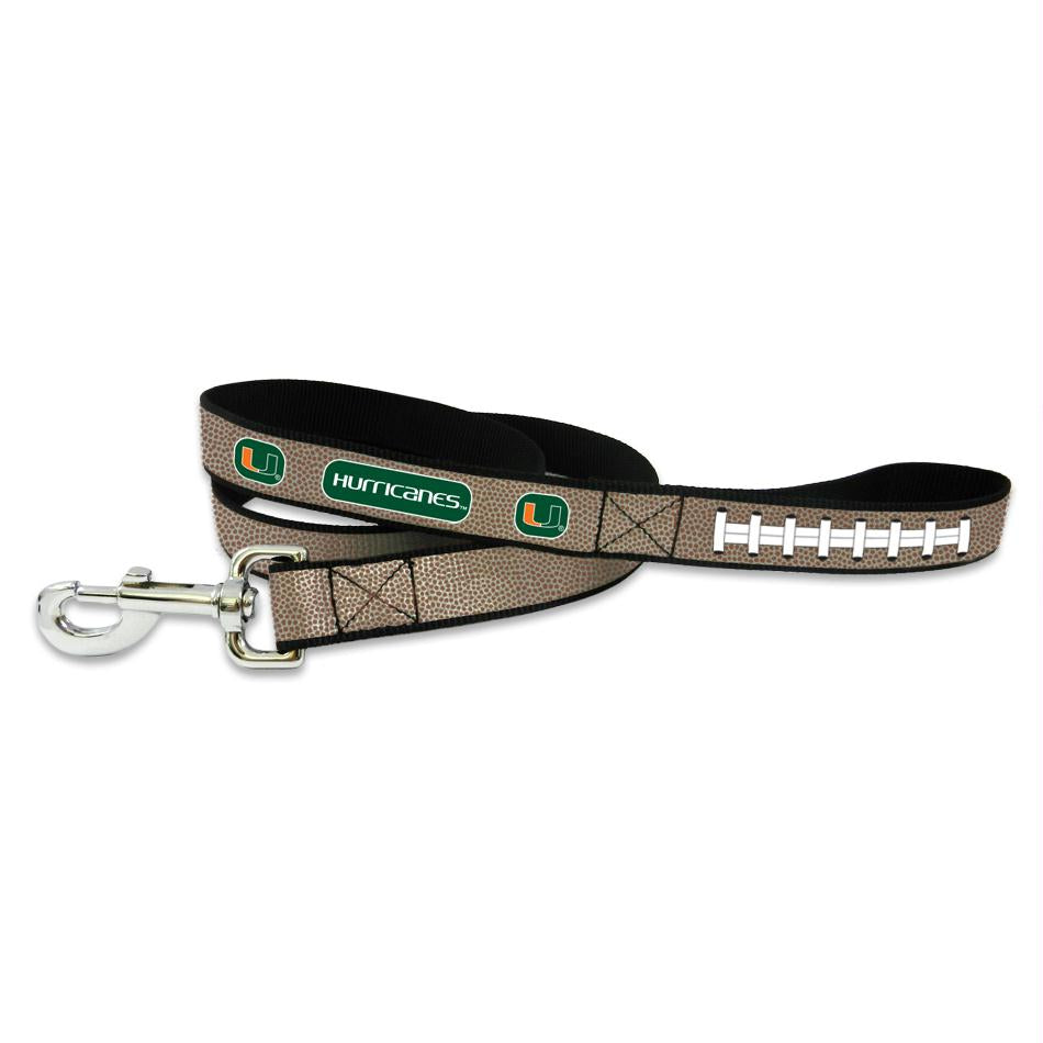 Miami Hurricanes Reflective Football Pet Leash - staygoldendoodle.com