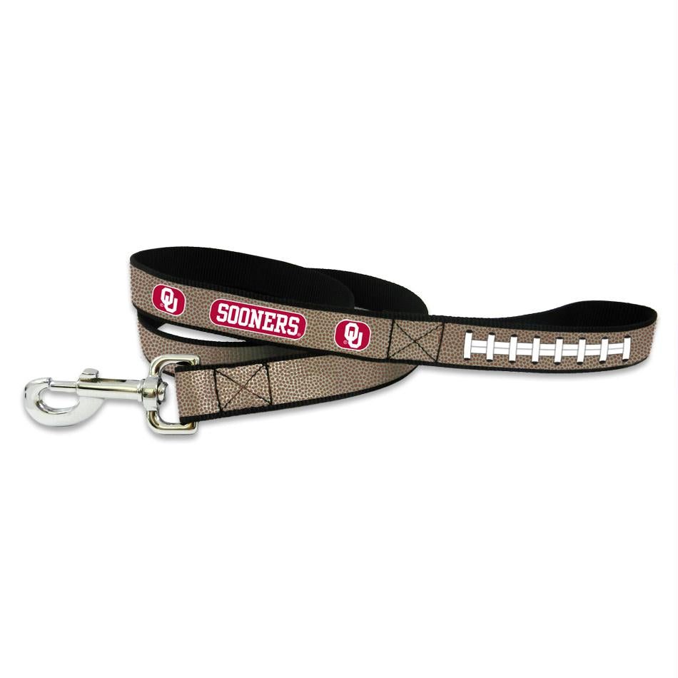 Oklahoma Sooners Reflective Football Pet Leash - staygoldendoodle.com