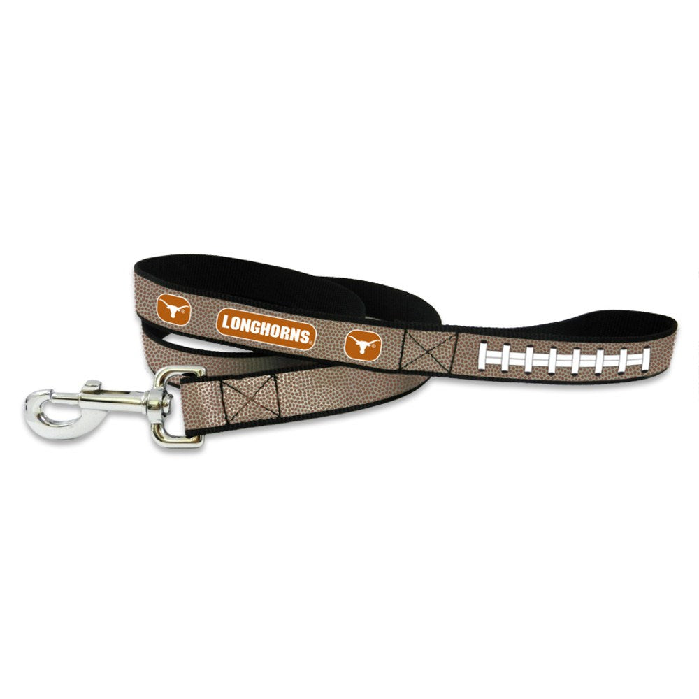 Texas Longhorns Reflective Football Pet Leash - staygoldendoodle.com