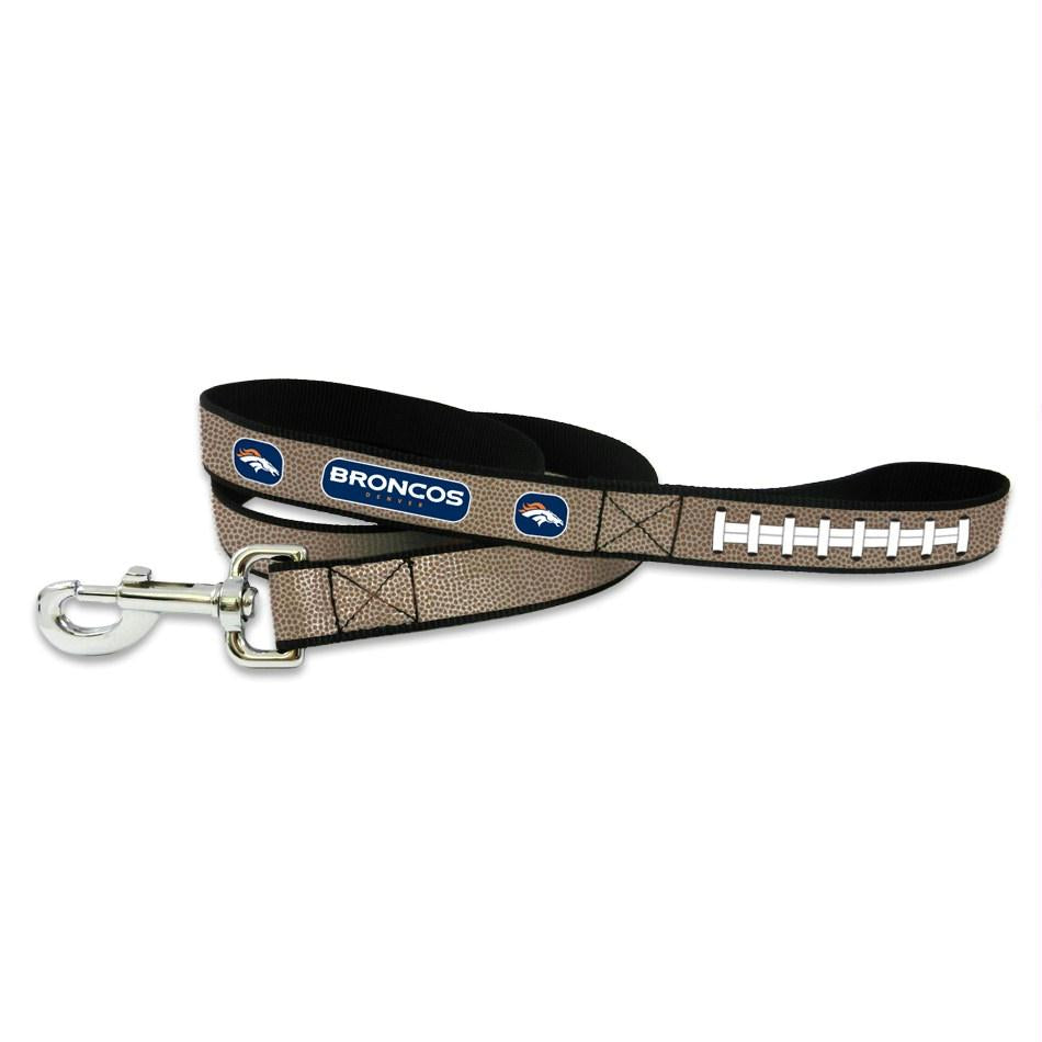 Denver Broncos Reflective Football Pet Leash - staygoldendoodle.com