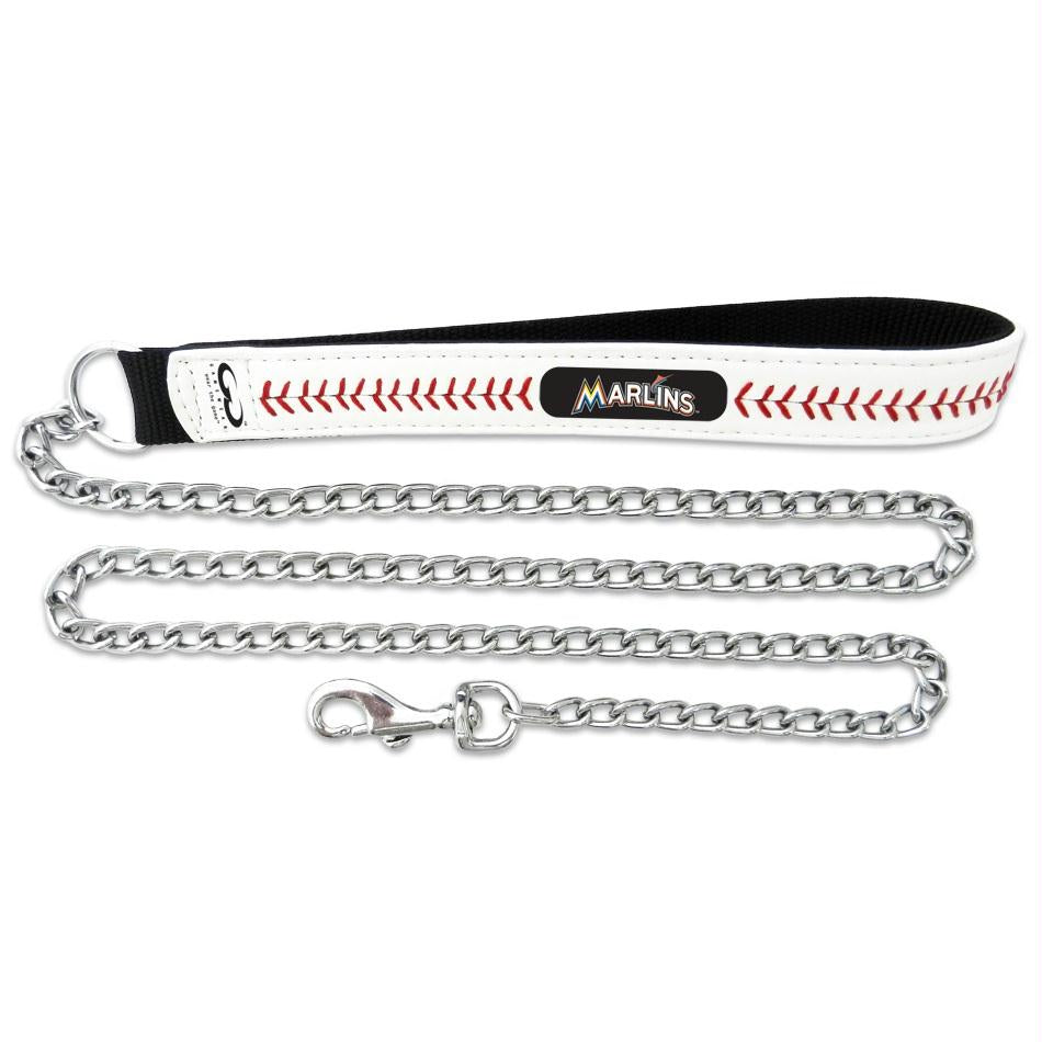 Miami Marlins Leather Baseball Seam Leash - staygoldendoodle.com