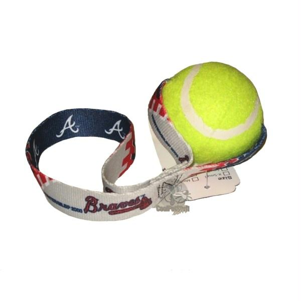 Atlanta Braves Tennis Ball Toss Toy - staygoldendoodle.com