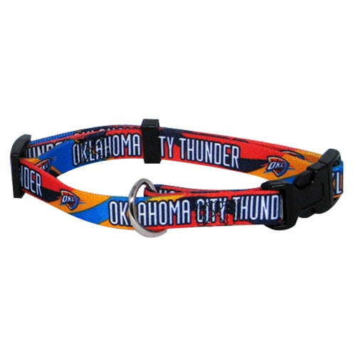 Oklahoma City Thunder Dog Collar - staygoldendoodle.com