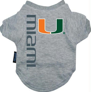 Miami Hurricanes Dog Tee Shirt - staygoldendoodle.com