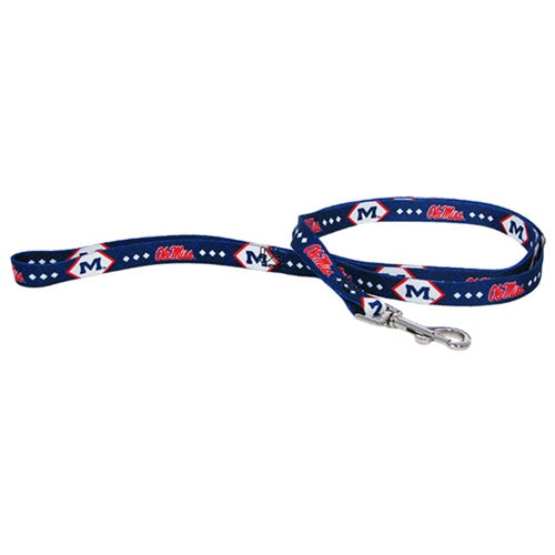 Ole Miss Rebels Dog Leash - staygoldendoodle.com