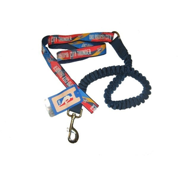 Oklahoma City Thunder Bungee Ribbon Pet Leash - staygoldendoodle.com