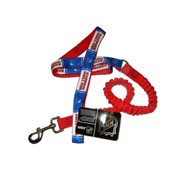New York Rangers Bungee Ribbon Pet Leash - staygoldendoodle.com