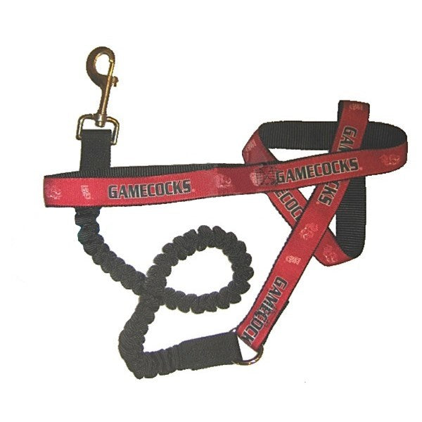 South Carolina Gamecocks Bungee Ribbon Pet Leash - staygoldendoodle.com