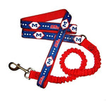Ole Miss Rebels Bungee Ribbon Pet Leash - staygoldendoodle.com