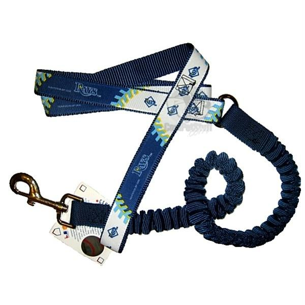 Tampa Bay Rays Bungee Ribbon Pet Leash - staygoldendoodle.com
