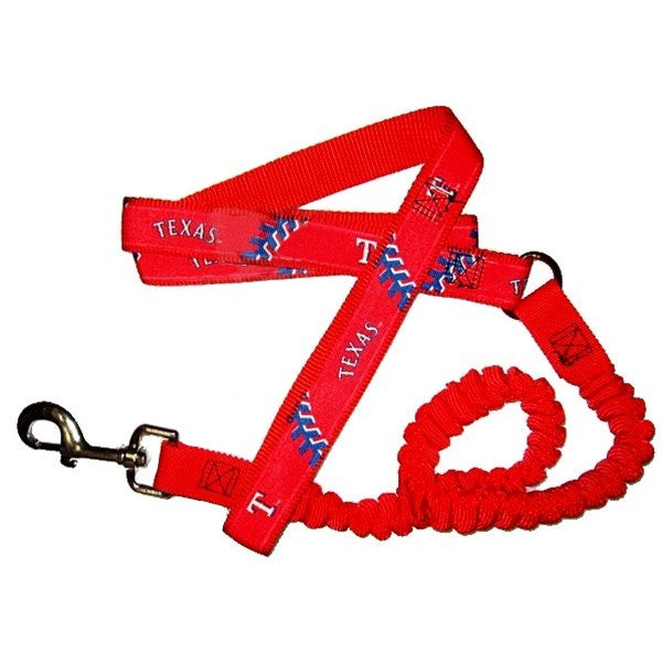 Texas Rangers Bungee Ribbon Pet Leash - staygoldendoodle.com