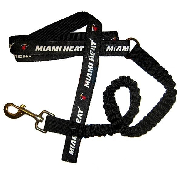 Miami Heat Bungee Ribbon Pet Leash - staygoldendoodle.com